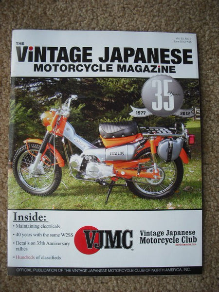 Honda CT90 Trail 90 Magazine Featured on the Cover of the VJMC Magazine June 2012  sku 4613