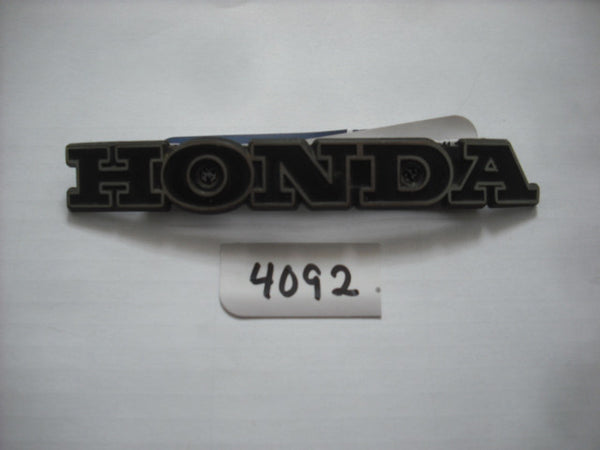 Honda Gas Tank Badge Unknown 4092