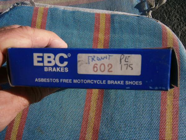 Suzuki PE175 NEW EBC Brake Shoes front or rear Part Number: EBC-602