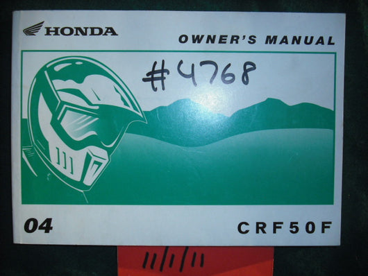 Honda CRF50F 2004 Owners Manual