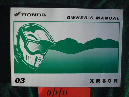 Honda XR80R 2003 Owners Manual