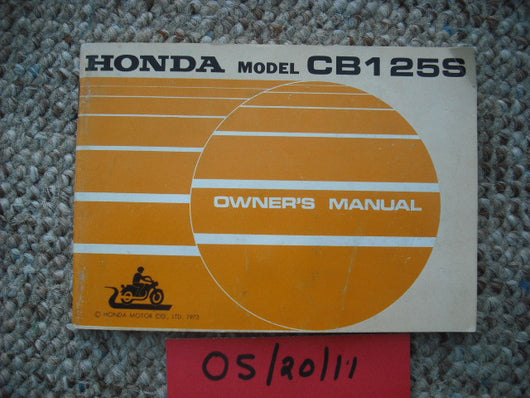 Honda CB125S1 1974 Owners Manual