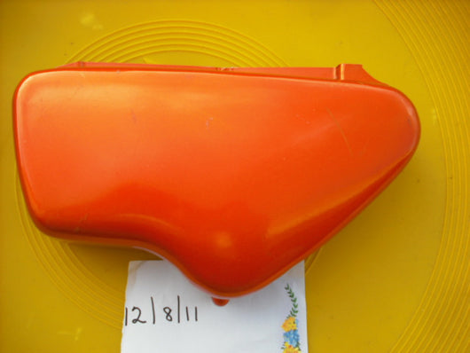 Honda CL175K0 Orange left sidecover New Old Stock  17331-235-010XH sku 2063