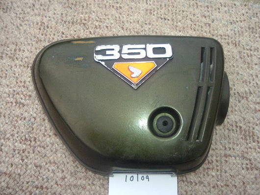 Honda CB350K4 Right Sidecover Candy Baccus Olive with badge  1047