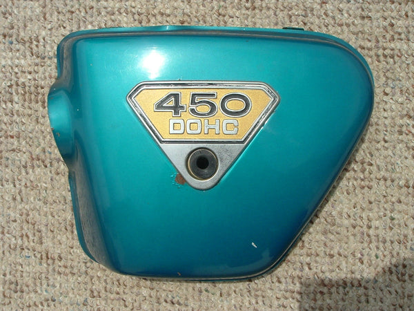 Honda CB450 Sidecover Left Green sku 1060