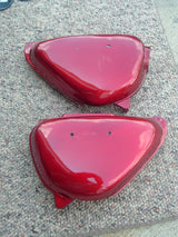 Sold Honda CB100 CB125 Sidecover Red Pair No Badges sku 1025