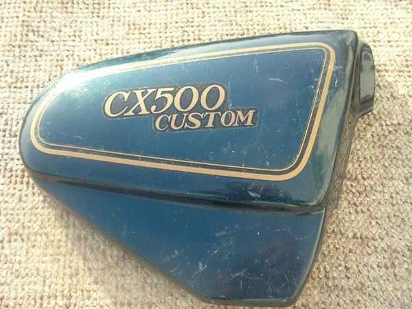 Honda CX500 Custom Candy Universal blue  Right Sidecover  83500-449A sku 1063