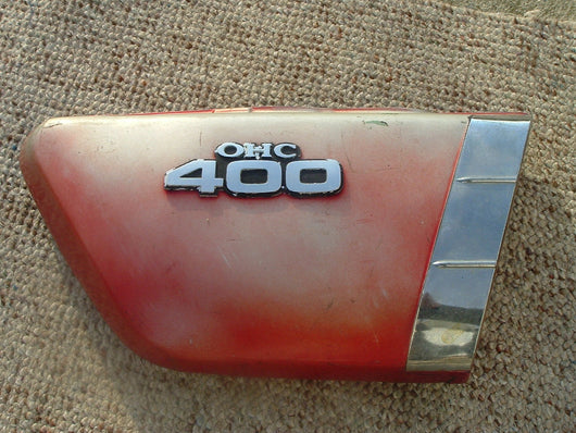 Kawasaki KZ400 Red Right  Sidecover 1066