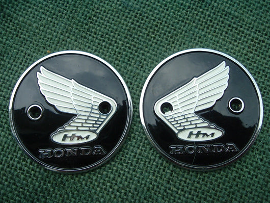 Honda CB160 CL160 CL175 CA200 Original Metal Gas Tank Badge  Pair sku 1096