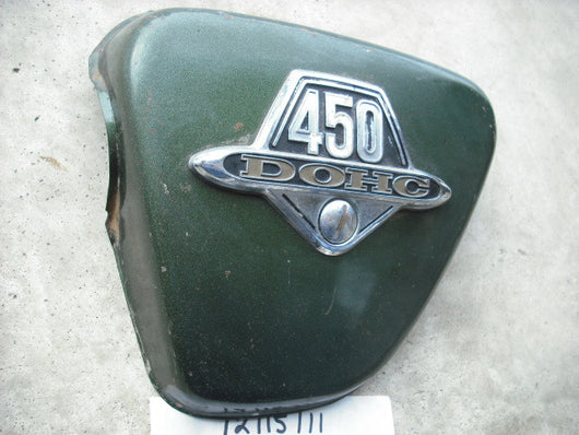 Honda CB450 1973 Left Sidecover Tyrolean Green Metallic