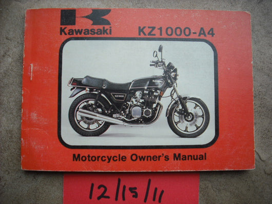 Kawasaki KZ1000 A4 Manual 1980 Model 2068