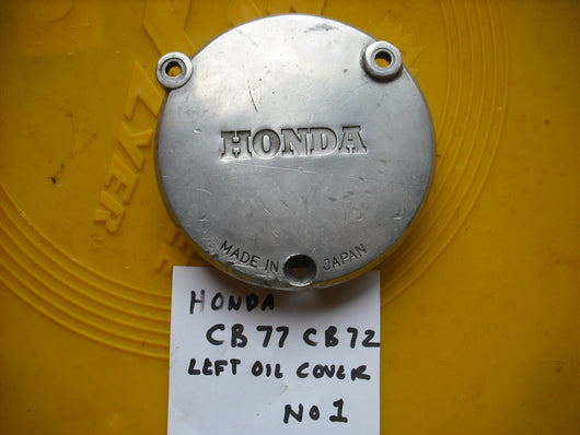 Honda CB77 Honda CB72 Honda CL77 Superhawk Left Oil Cover 2092