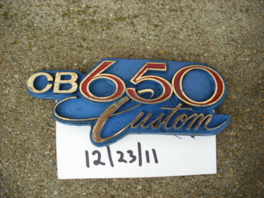 Honda CB650C  650 Custom Sidecover Badge