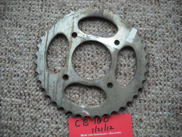 Honda CB160 NOS Original Rear Sprocket 41201-107-000 sku 2099