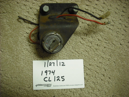 Honda CL125 1974 Ignition Switch and key sku 3107