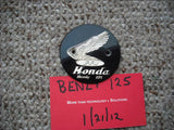 Sold Ebay 7/7/17 Honda CB92 Benly 125 Left Badge 3003