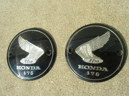 Honda CA175 CD175 Gas Tank Badge Pair 1116