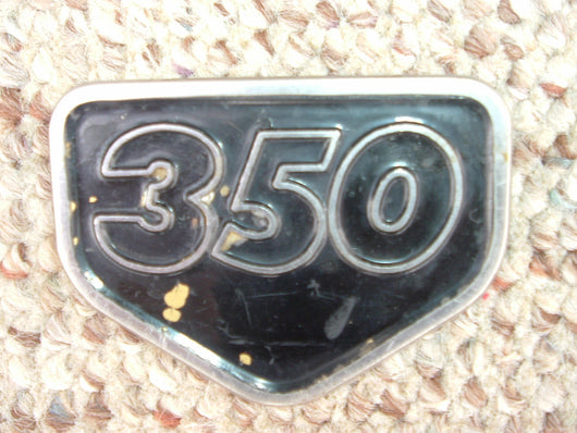 Honda CB350 CL350 Black Sidecover Badge 1131