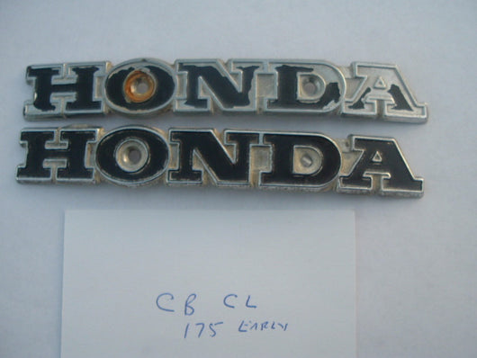 Honda SL175 Gas Tank Badge Pair 1134