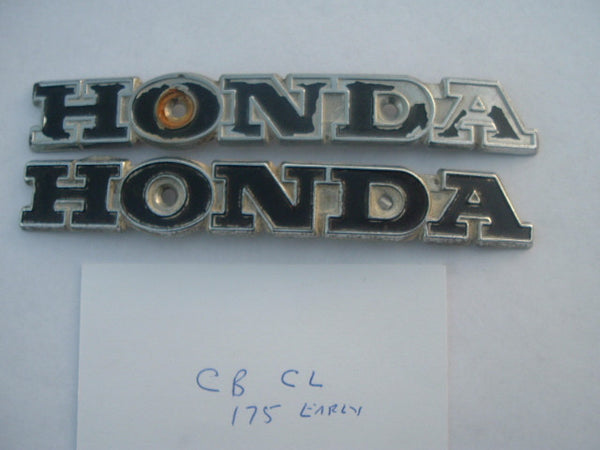 Honda CB175 CL175  SL175 Gas Tank Badge Pair 1134
