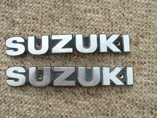 Suzuki GS750 GS850 GS1000  Gas Tank Badge Pair 1145