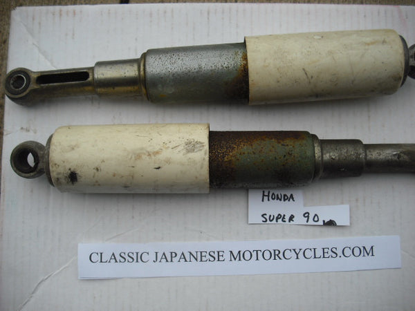 Honda Super 90 Shock Pair White 1219