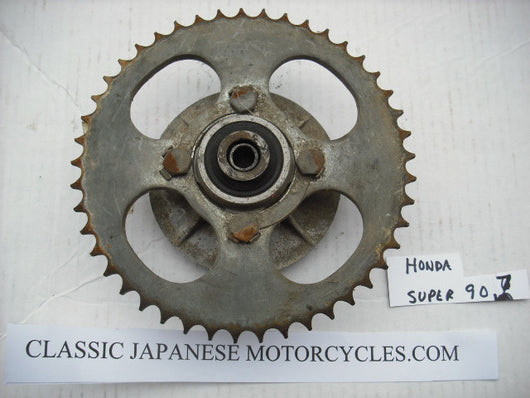 Honda Super 90 Rear Hub and Sprocket