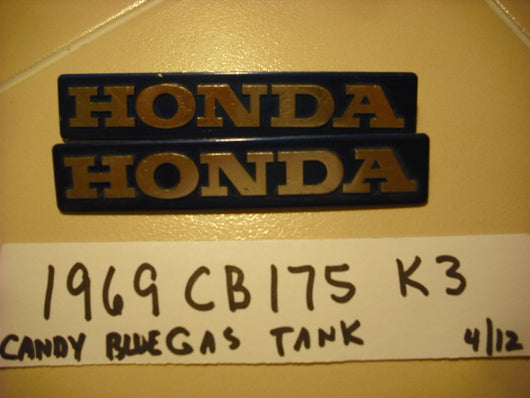 Honda 1969 CB175 Late Model K3 Gas Tank Badge Pair