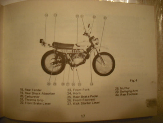Suzuki ts185,owners manual 1971 first year 3166.