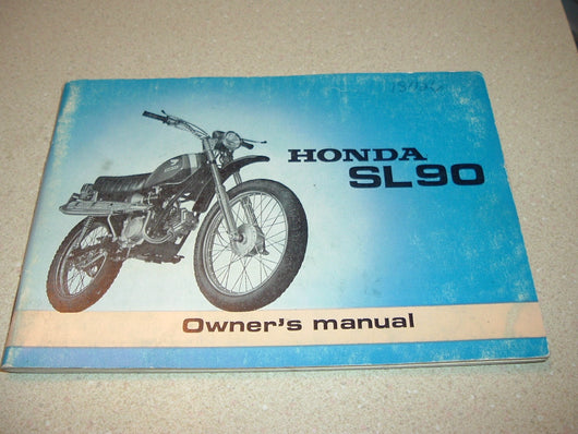 Honda SL90 1969 Owners Manual 4569