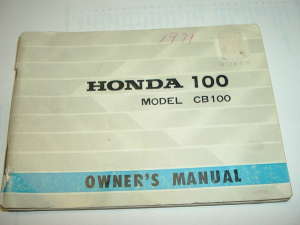 Honda CB100K1 Owners Manual 1259