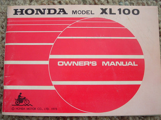 Honda XL100,1974 Manual 1262