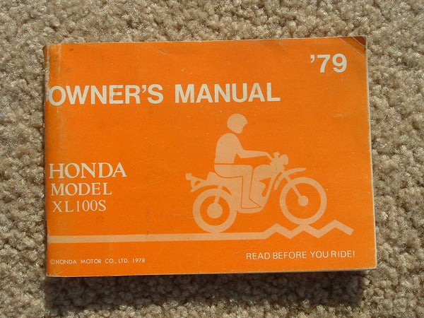 Honda XL100S 1979 Manual 1261