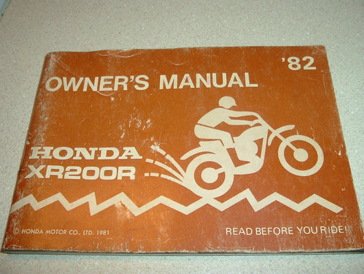 Honda XR200 1982 Manual 1265