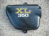 Honda XL350 Right Black Sidecover