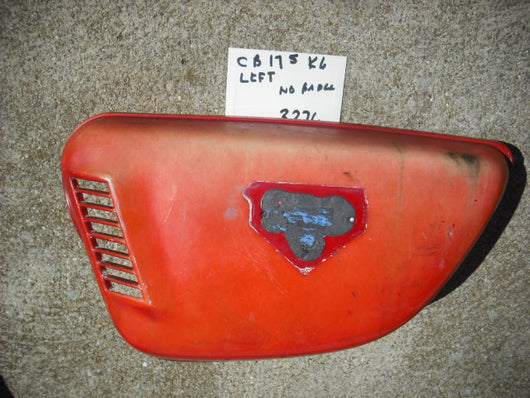 Honda CB175K6 Red Left Sidecover No Badge