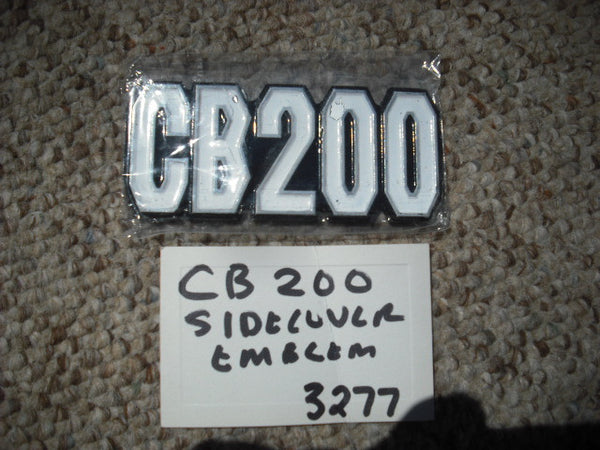 Honda CB200 Sidecover Badge Pair