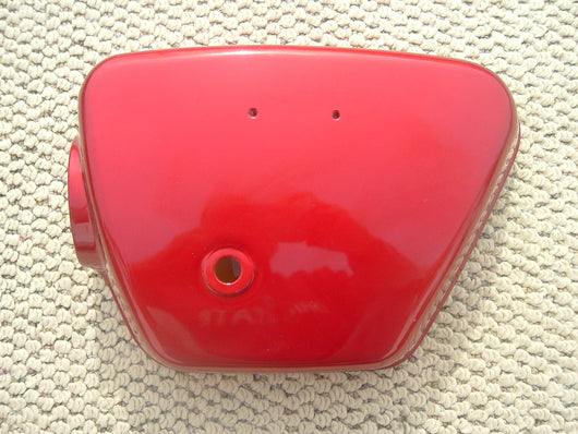 Honda CB350 CL350 1970 left Candy Ruby Red Sidecover NOS Perfect 1446