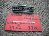 Honda Dream CA95 CA160 Emblem Black Chrome 2.75 inches