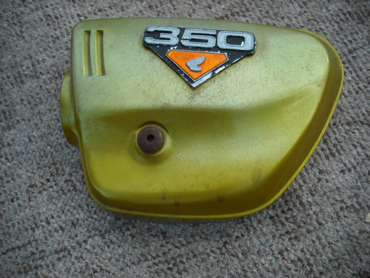 Honda CL350 Candy Panther Gold Left Sidecover