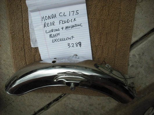 Honda CL175 Rear Fender with mounting bolts wiring