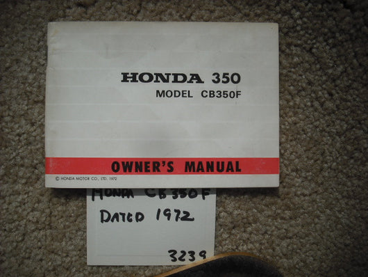 Honda CB350F Manual 3240