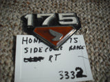 Honda CB175 CL175  right sidecover badge