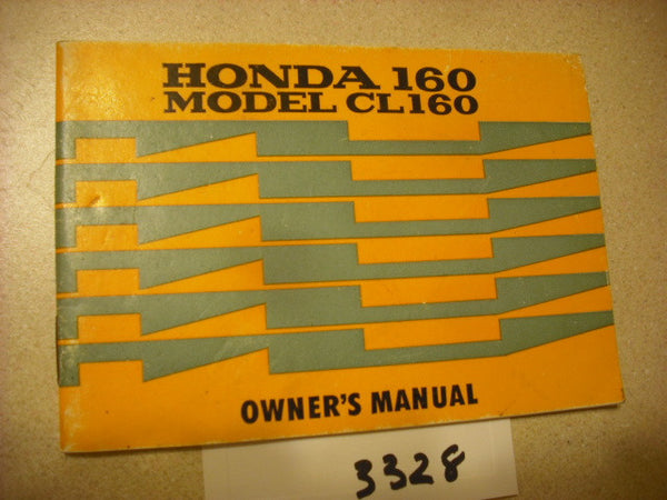 Honda CL160 Manual sku 3328