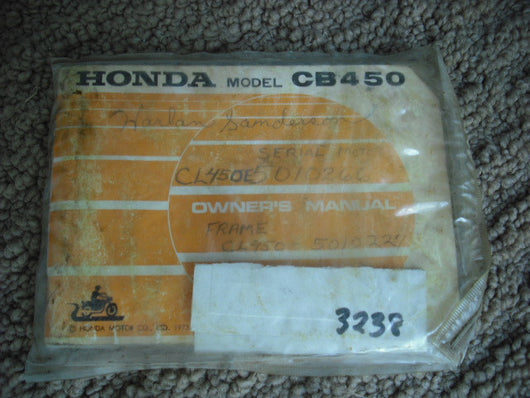 Honda CB450 K7 Manual