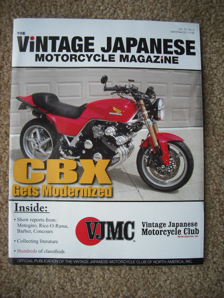 VJMC Magazine Cover: Honda CBX, December 2011