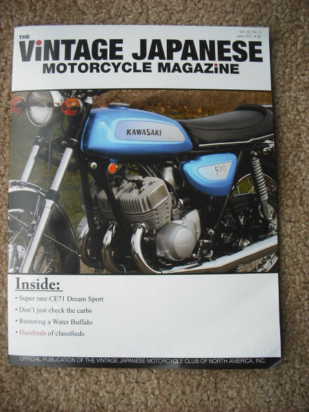VJMC Magazine Cover: Kawasaki 500 Triple June 2011