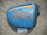 Honda CB400A Hondamatic Right Candy Sapphire Blue Sidecover 83600-413-0000