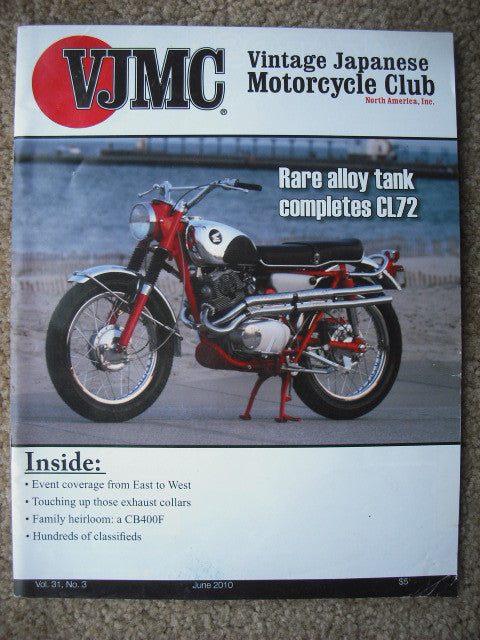 VJMC Magazine Cover: Honda CL72 250 Scrambler June 2010