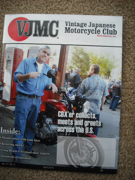 VJMC Magazine Jay Leno Honda CBX April 2010